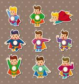 Pegatinas de superman — Vector de stock