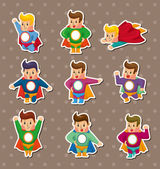 Superman stickers — Vettoriale Stock