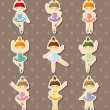 Royalty-Free Stock Imagen vectorial: Dancer stickers