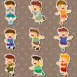 Royalty-Free Stock Vector Image: Kid jump stickers