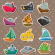 Boat stickers — Stockvector #12706390