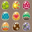 Royalty-Free Stock Vector Image: Cartoon Easter egg stickers