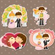 Cartoon wedding set — Stock Vector