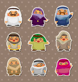 Cartoon Arabian stickers — Stock Vector