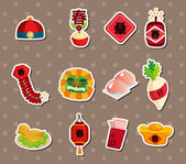 Chinese new year stickers — Vecteur