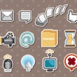 Royalty-Free Stock Vector Image: Web icon stickers