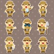 Set of Adventurer stickers — Stock Vector #12752272