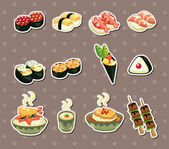 Japanese food stickers — Stock Vector