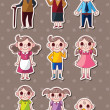 Stock Vector: Family stickers