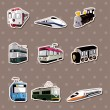 Stock Vector: Train stickers