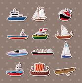 Naklejki łódź — Wektor stockowy