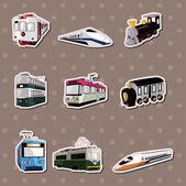 Pegatinas de tren — Vector de stock