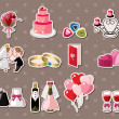 Wedding stickers — Stock vektor