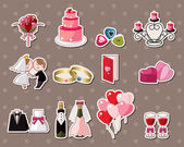 Wedding stickers — Vector de stock