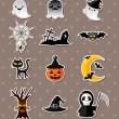 Halloween stickers — Stock Vector #13101211