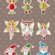 Cartoon little baby fairy stickers — Stock Vector #13101302