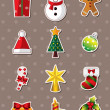Vector de stock : Xmas element stickers