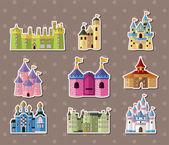 Castle stickers — Stock Vector