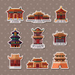 Chinese house stickers — Stock Vector #13124547