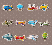 Cartoon airplane stickers — Stock Vector