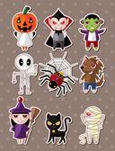 Halloween monster stickers — Stock Vector