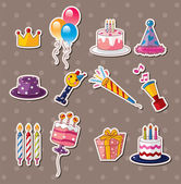 Birthday stickers — Stok Vektör