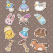 Baby stuff stickers — Stock Vector #13149860
