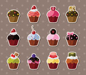 Cup-cake stickers — Stockvector