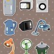 Stock Vector: Home Appliances stickers