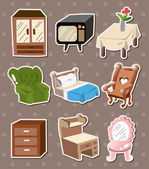 Home furniture stickers — Stock Vector