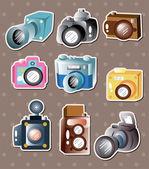 Camera stickers — Stock Vector