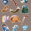 Royalty-Free Stock Vector Image: Climbing tool stickers