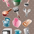 Royalty-Free Stock Vector Image: Kitchen tool stickers