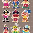 Clown stickers — Stock Vector #13349572
