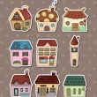 Stock Vector: House stickers