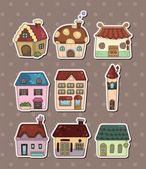 Huis stickers — Stockvector
