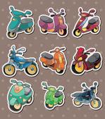 Cartoon motorrad aufkleber — Stockvektor