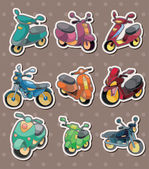 Cartoon motorcycle stickers — Stock Vector