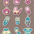 Baby stuff stickers — Stock Vector #13525587