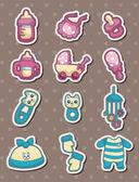 Baby stuff stickers — Stock Vector