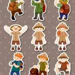 Set of Adventurer stickers — Stock Vector