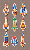 Spaceship stickers — Stock Vector