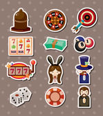 Casino stickers — Vector de stock