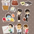 Office worker stickers — Stock Vector #13680659