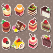 Cake stickers — Stock Vector #13680669