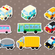 Cart stickers — Image vectorielle