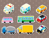 Cart stickers — Stock Vector