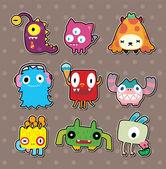 Monster stickers — Stock Vector