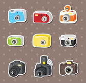 Camera stickers — Stock Vector