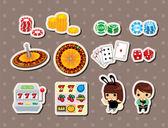 Casino stickers — Stock Vector